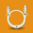 MF Product Jettpower 0597 Mıknatıslı Sarma Type-C Şarj Kablosu 1 m Beyaz resmi