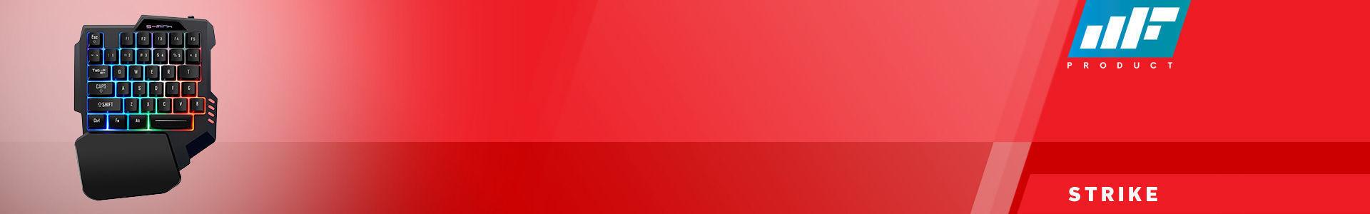 MF Product Strike 0568 RGB Kablolu Tek El Mini Oyun Klavyesi Siyah en iyi fiyata stokta!