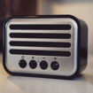 MF Product Acoustic 0145 Vintage Kablosuz Bluetooth Hoparlör Siyah resmi
