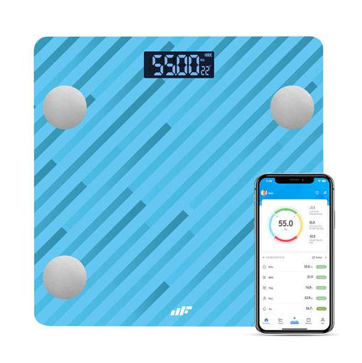 MF Product Allure 0532 Vücut Analizli Akıllı Tartı Mavi resmi
