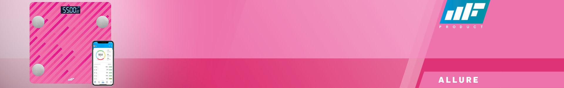 MF Product Allure 0532 Vücut Analizli Akıllı Tartı Pembe, en fiyata stokta!